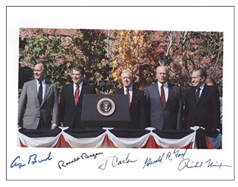 Five President Signed Photo